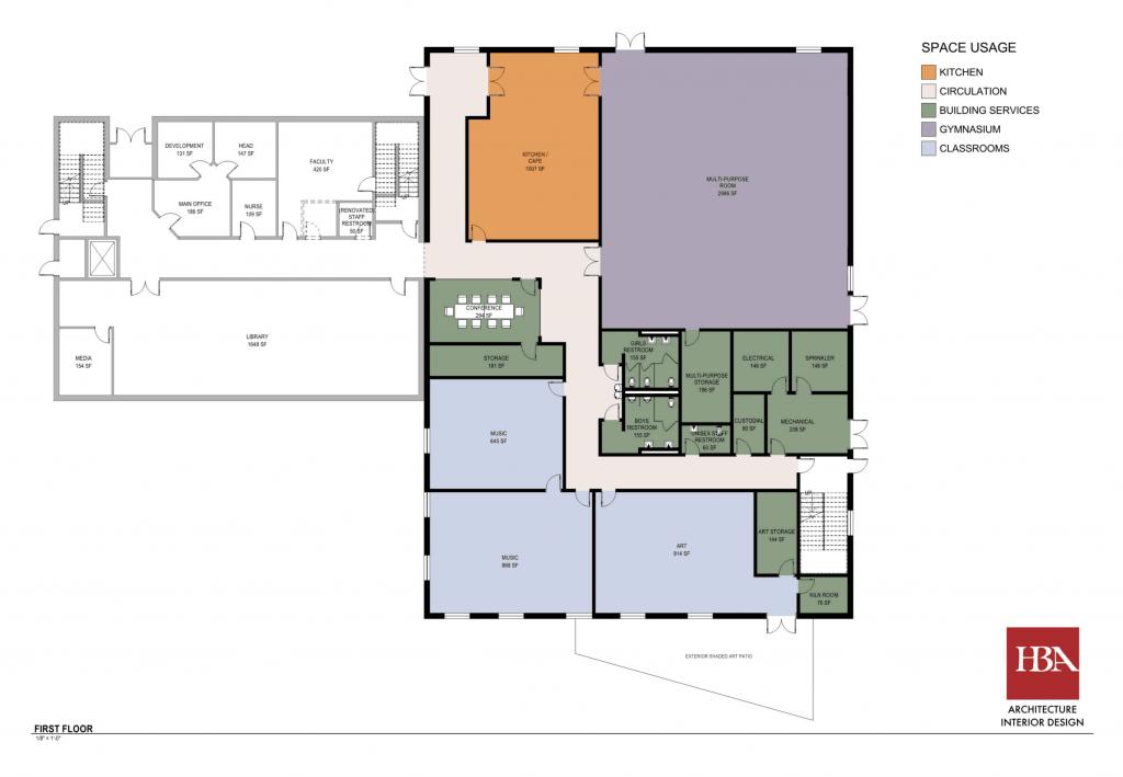 VBFS First Floor Rendering